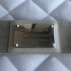 Dolce & Gabbana Elastic Clasp Belt New